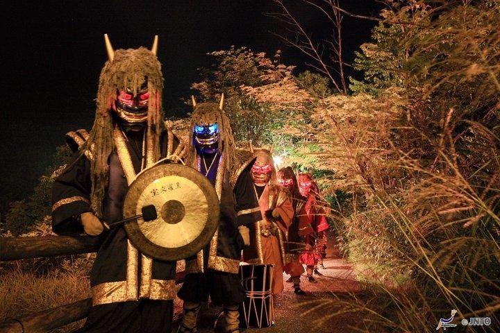 the Oni Hanabi Fireworks Festival in Hokkaido.
