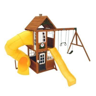 Kidkraft Lewiston Retreat Wooden Playset Backyard Play Wooden Playset Wood Swing