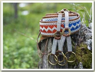 Beautiful belt. South Sami pewter embroidery ornamentation (Lycksele)