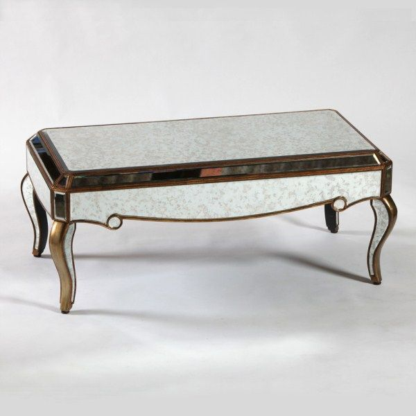 Stunning Coffee Table part of the Antiqued style venetian glass range available in gold and silver finish