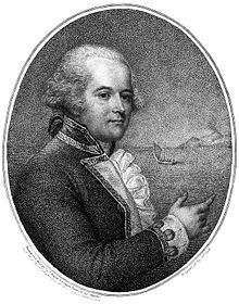 William Bligh, pictured in his 1792 account of the Mutiny voyage, A Voyage to the South Sea.