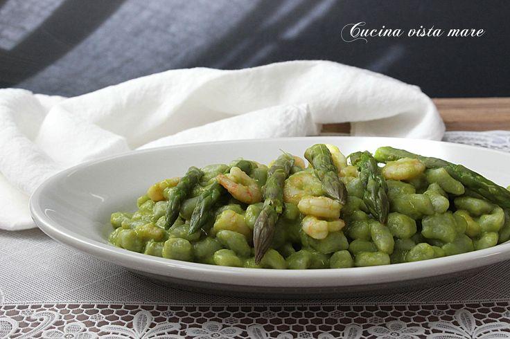 Gnocchetti+con+asparagi+e+gamberetti