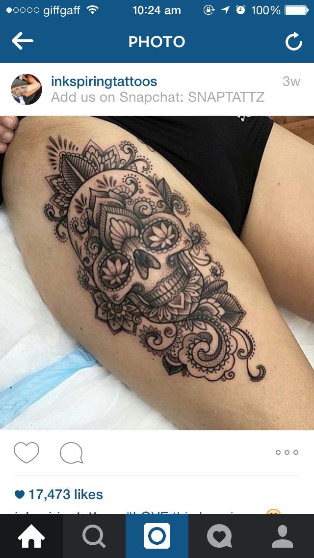 9c7325332 Mandala skull tat | Tat ideas | Sugar skull tattoos, Mexican tattoo, Tattoos