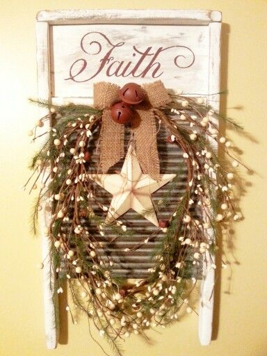 Country Faith washboard I made for Christmas!