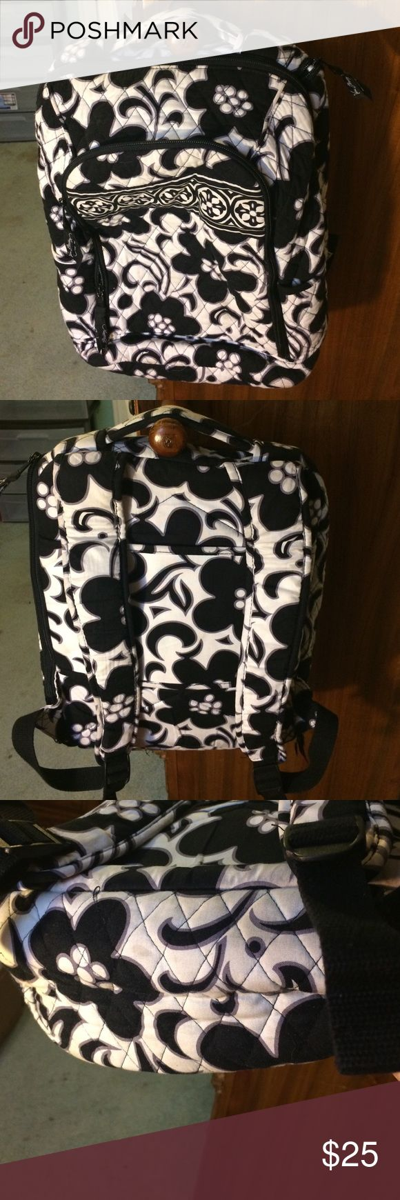 Barely used VERABRADLEY laptop backpack! Black and…