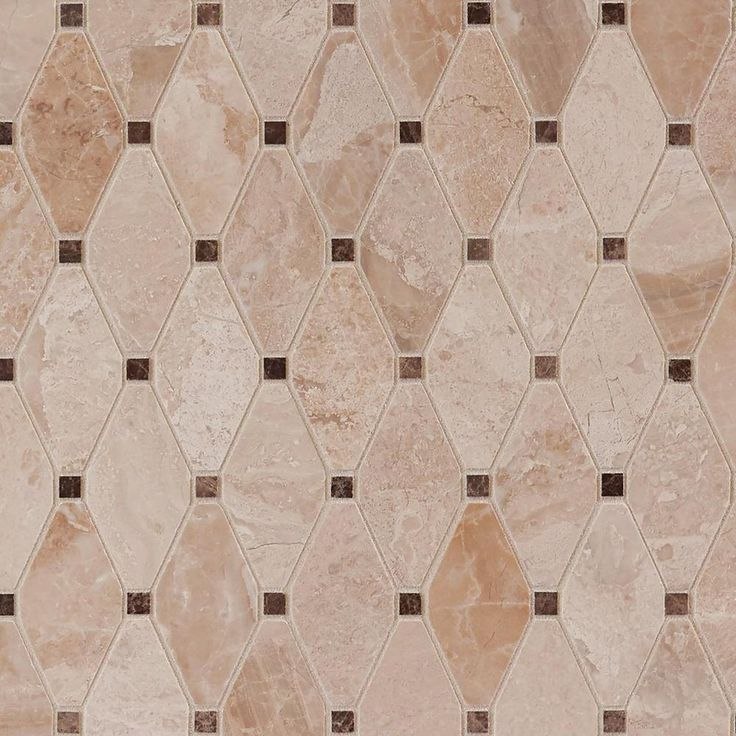Crema Royal Diamond Polished Marble Mosaic Marble Mosaic