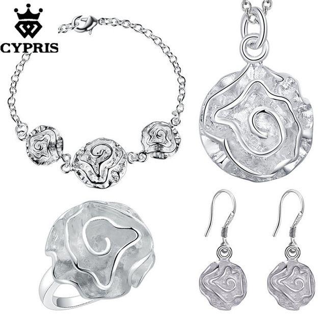 CYPRIS оптовая торговля розничная торговля набор свадьба свадьбу ювелирные наборы мода серебряные ювелирные изделия серьги…