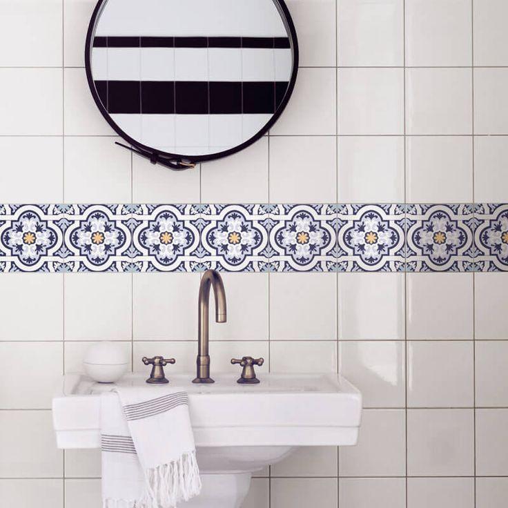 cenefas y motivos de vinilo para paredes y azulejos