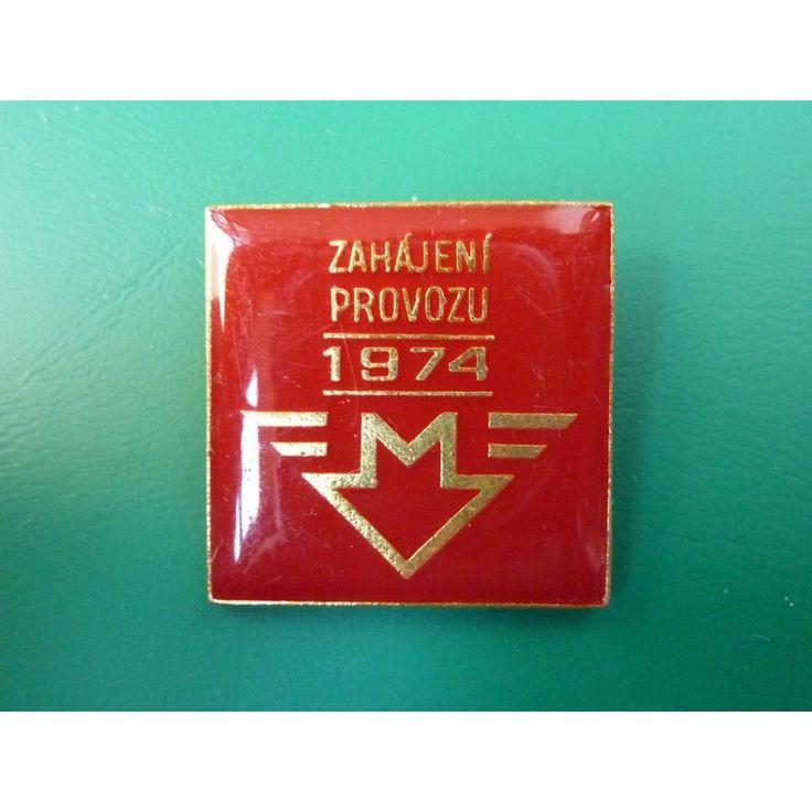Czechoslovakia - badge Launch of Metro 1974