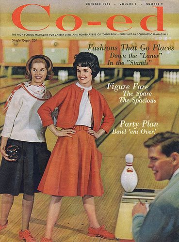 "Co-ed, October 1962    Cover of Co-ed magazine, October 1962    ""The High School Magazine for Homemakers and Career Girls"""