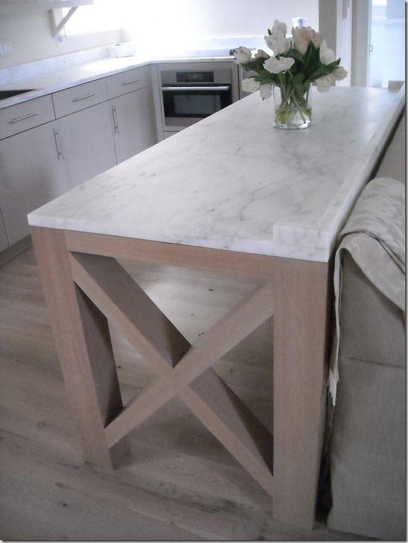 Calacatta Caldia. Sherman Williams Perfect Gray painted kitchen units