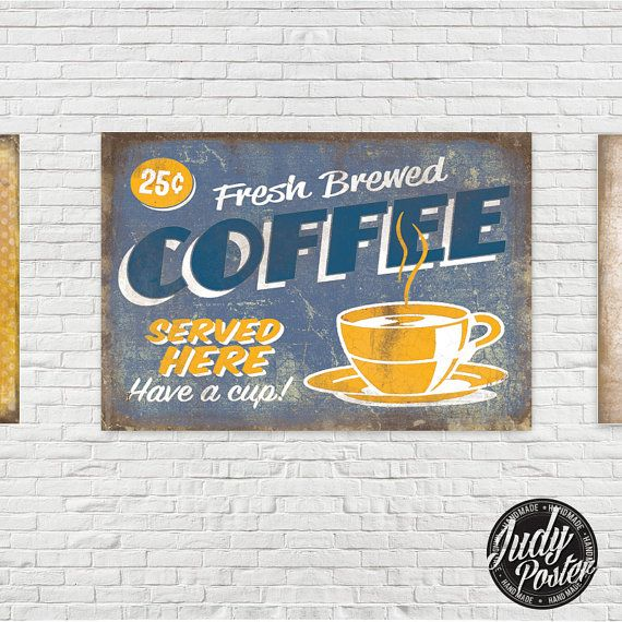 Vintage / Retro Sign Old Style Wall Decor by Judydesignstore