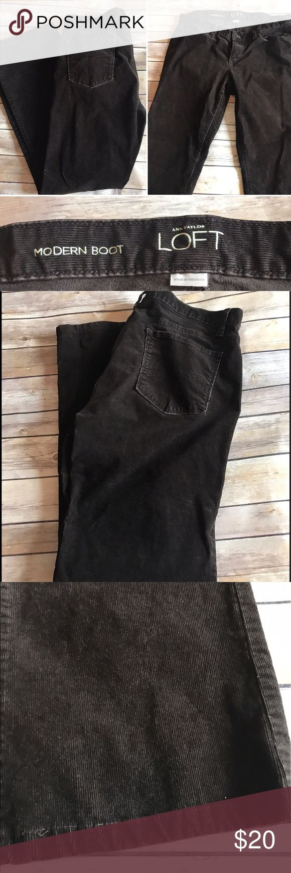 Chocolate Cord Jeans Modern bootcut in a rich chocolate brown.  Looks great with your favorite denim shirt or cream sweater. LOFT Jeans Boot Cut