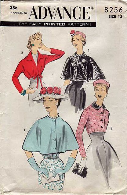 1950s bolero capelet Advance Pattern