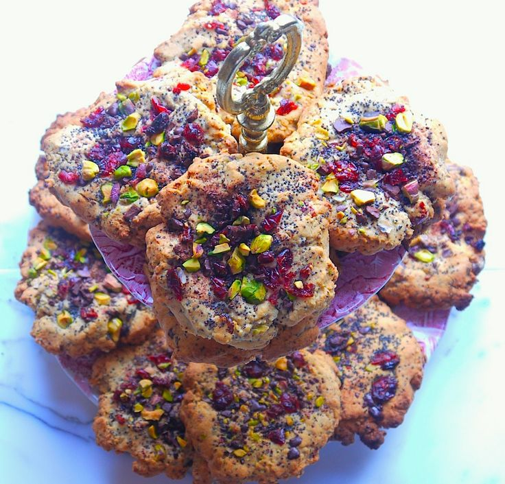 Pistachio, Cranberry and Chocolate Gluten Free Cookies: Free Recipe, Gfree Sweets, Egg, Top, Gf Sweets