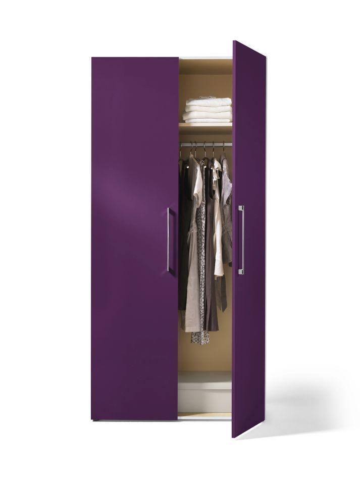 Spectacular Kleiderschrank t rig hochglanz lila mit sehr vielen Gestaltungsm glichkeiten