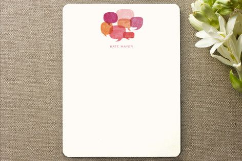Talk Bubbles Personalized Stationery by Jody Wody at minted.com