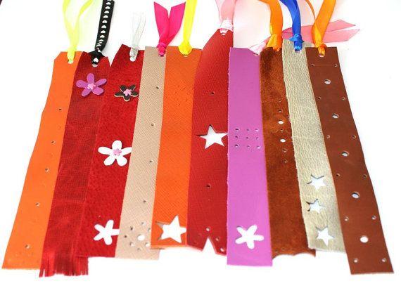 Handmade leather bookmark by ramonaignat on Etsy