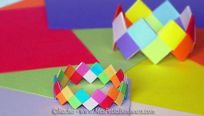 bracelets origami papier emboité