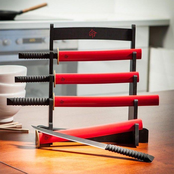 Il kit espositore coltelli da cucina Samurai  | Troppotogo