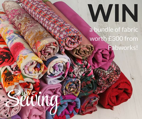 LOVES FABRIC? Win a bundle of fabric worth £300 from @lovesewingmag and @FabworksOnline  #sewing