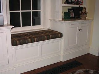 Built In Window Bookcases For The Idea Of A Cabinet On The Other Side Of The Window Seat Not This Exact Style
