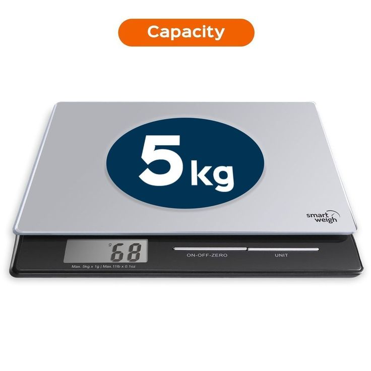 Digital Kitchen Scale Postal Tempered Glass Electronic LCD Weighing Food - New #DigitalKitchenUK