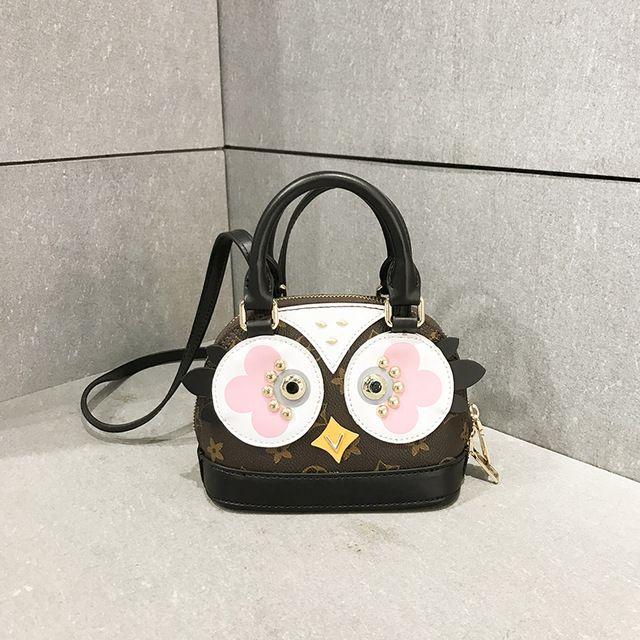 2017 verão nova moda coruja saco impressão saco shell bolsa bolsa de ombro corpo pequeno saco cruz diagonal