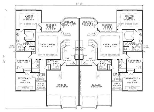 Multi unit house plan 153 1585 6 bedrm 3040 sq ft per for Ehouseplans com