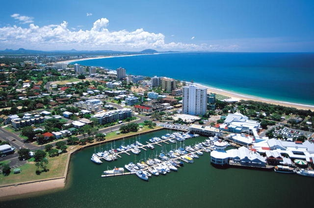 Mooloolaba Beach and marina - Sunshine Coast