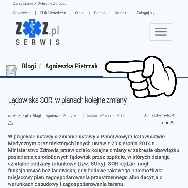 """Blog Agnieszki Pietrzak z APDK w serwisie """"Zarządzanie w Ochronie Zdrowia"""" - www.serwiszoz.pl/agnieszka-pietrzak-121 ☺ AP's blog on the website serwiszoz.pl (management in health care)  #blog #prawny #blogger #zarządzanie #ochronazdrowia #NFZ #lekarz #prawo #lekarze #sor #wiedza i #praktyka #biznes #kobietabiznesu #adwokat #prawnik #prawo #warszawa"""