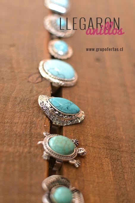 anillos turquesa