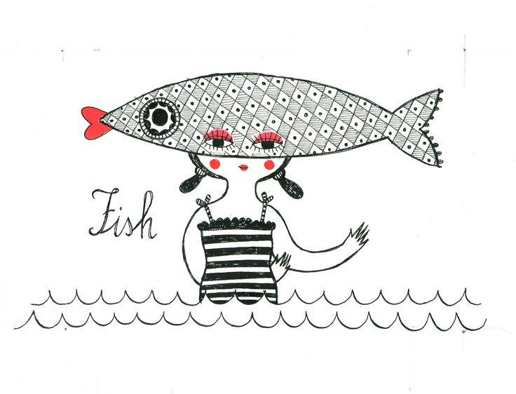 La sardina e il pesce rosso. #doracreminatierossocuore