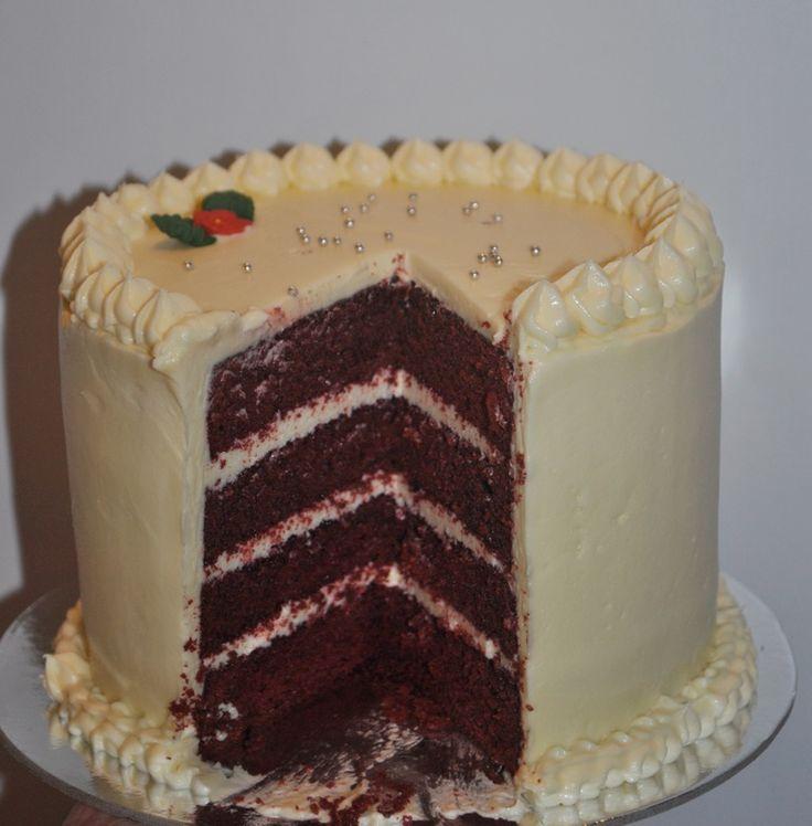 Red Velvet layer cake crumbsbakery.com.au