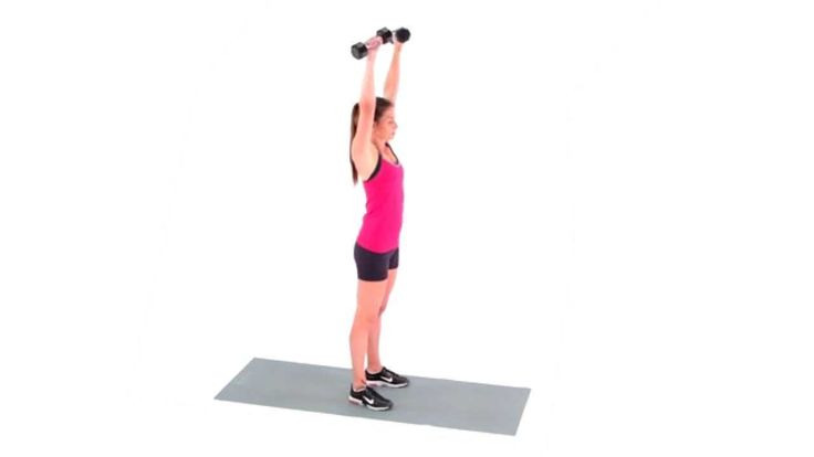 Dumbbell Curl to Press
