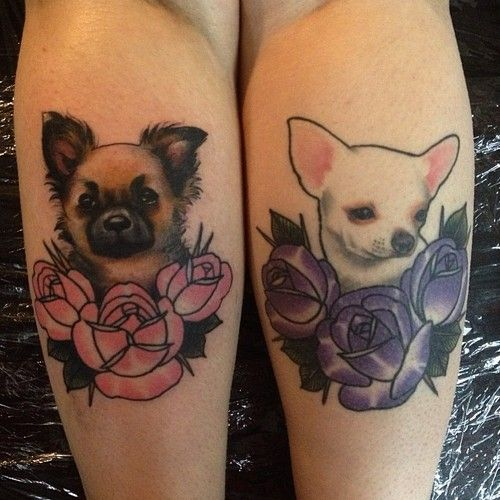 Chihuahua tattoos! Inspiration for getting my possible dog tattoo.