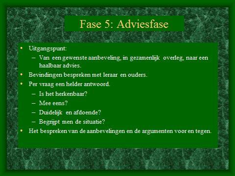HGW: Fase 5. De adviesfase