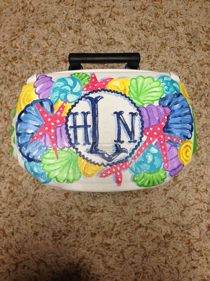 monogrammed starfish cooler.Get your YETI cooler form http://www.desotowarehouse.com/