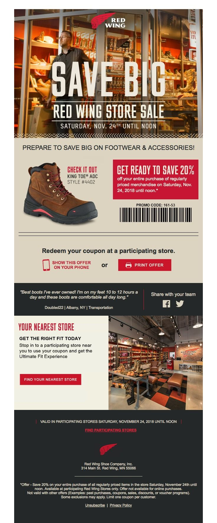 Red Wing Brands of America sent this