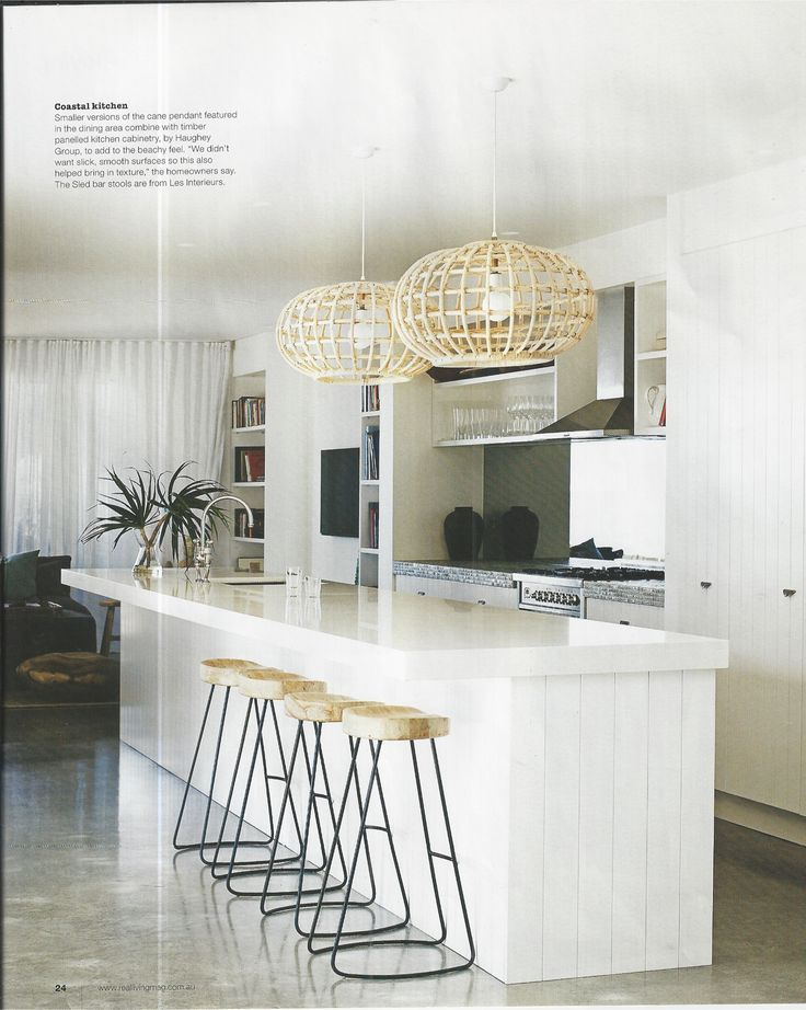 Kitchen with VJ doors - I like the stools