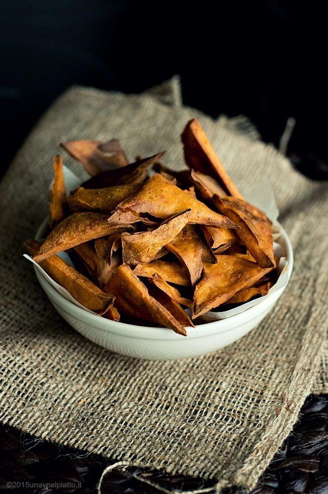 Chips di ceci al pomodoro