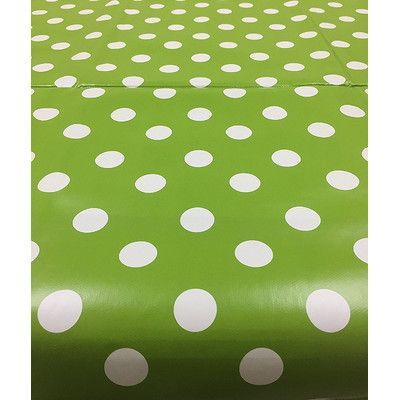 Ottomanson Essential Polka Dot Design Indoor/Outdoor Tablecloth