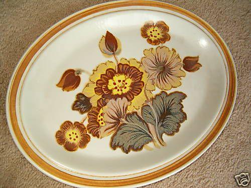 Royal #Doulton UK Serving Platter #Forest Glen Pattern Retro Mod Oval Plate 13 in & 168 best Vintage Dinnerware Tableware Crockery images on Pinterest ...