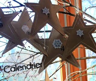 Calendrier de l'Avent étoiles à gratter chez Claudia Au fil des jours http://aufildesjours-claudia.blogspot.be/