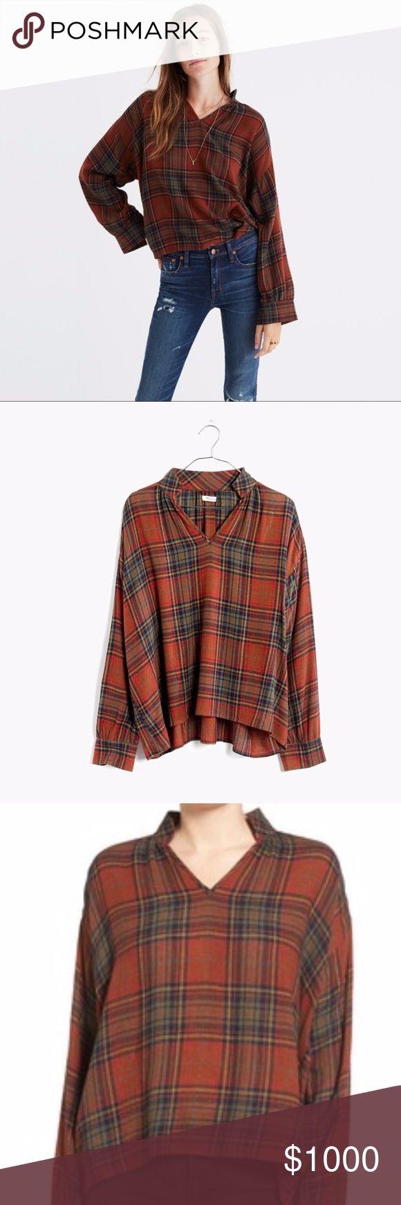 ISO: Madewell Highroad Popover in Brentford Plaid Love this shirt! When I went on Madewell today it wasn't there anymore! Please let me know if you have this or someone that does! Madewell Tops