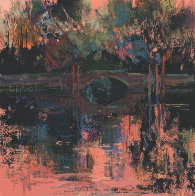 """""""Jardines de la Bienal""""50x50cm.M.Teresa Martin-Vivaldi"""