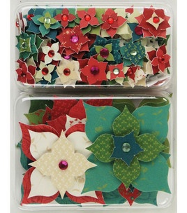 #12Pins product: K & Company Layered Embellishments - Poinsettias : Embellishments : scrapbooking :  Shop | Joann.com