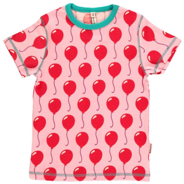 A bright and bold short sleeved top for children who love balloons and parties!