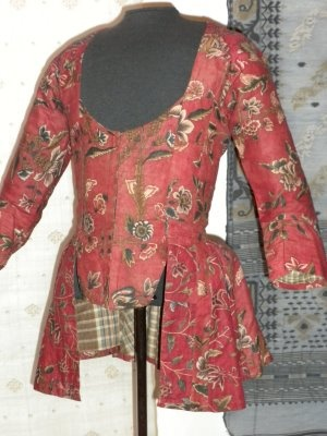 Girl's jacket, Netherlands 1760 Collection of the Textile Museum of Canada Photo by Ingrid Mida