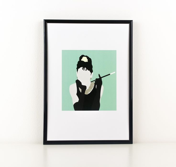 Inspired by the movie, Breakfast At Tiffany's #breakfastattiffanys, this Holly Golightly #hollygolightly poster is the reflection of nonchalant chic, perfect for Breakfast At Tiffany's aficionados and lovers of all things Audrey Hepburn. It's a classic, chic and timeless piece that can transform any room. www.loverow.co